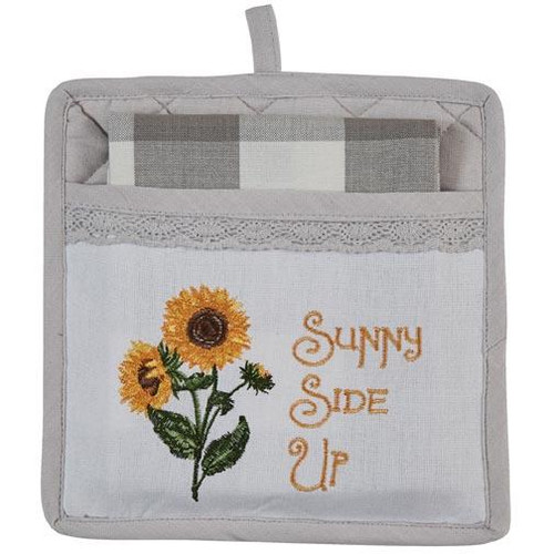 Park Designs Potholder Set with Pocket and Towel - Sunny Side Up