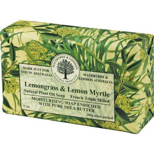 Australian Soapworks Wavertree & London 200g Soap - Lemon Myrtle & Lemongrass