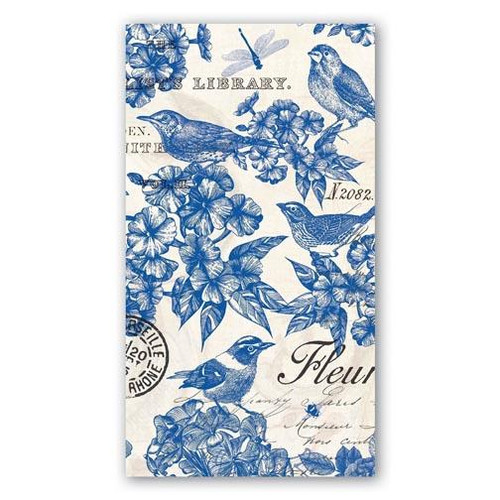 Michel Design Works Paper Hostess Napkins - Indigo Cotton
