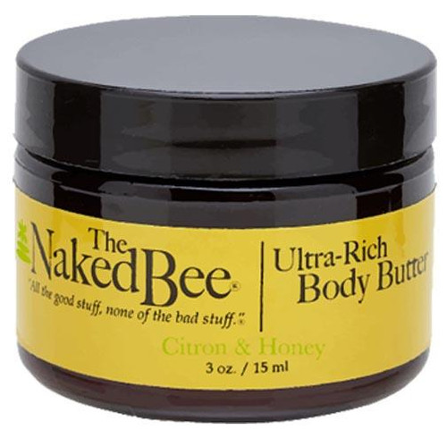Naked Bee Body Butter 3 Oz. - Citron & Honey