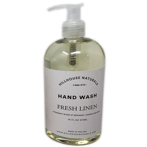 Hillhouse Naturals Hand Wash 16 Oz. - Fresh Linen