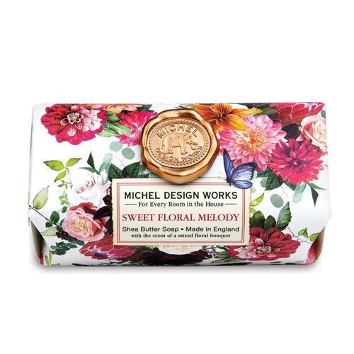 Michel Design Works Bath Soap Bar 9 Oz. - Sweet Floral Melody