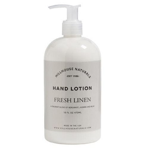 Hillhouse Naturals Hand Lotion 16 Oz. - Fresh Linen