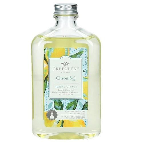 Greenleaf Reed Diffuser Oil 8.5 Oz.- Citron Sol