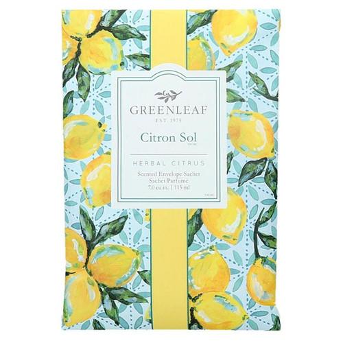 Greenleaf Large Scented Envelope Sachet - Citron Sol
