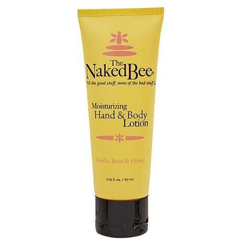 Naked Bee Hand & Body Lotion 2.25 Oz. - Vanilla Rose & Honey