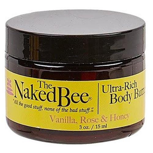 Naked Bee Body Butter 3 Oz. - Vanilla Rose & Honey