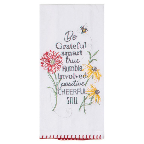 Kay Dee Designs Embroidered Flour Sack Towel - Floral Buzz