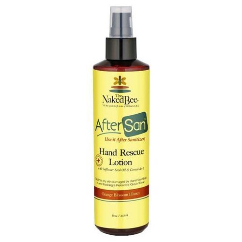 Naked Bee AfterSan Hand Rescue Lotion 8 Oz. - Orange Blossom Honey