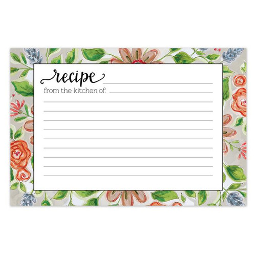 Brownlow Gifts Recipe Cards 4 x 6 - Lattice Floral