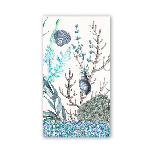 Michel Design Works Paper Hostess Napkins - Ocean Tide
