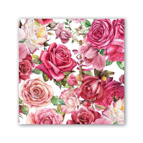 Michel Design Works Paper Luncheon Napkins - Royal Rose