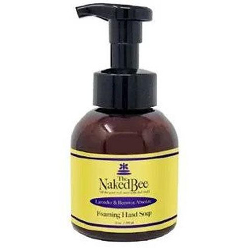 Naked Bee Foaming Hand Soap 12 Oz. - Lavender & Beeswax Absolute
