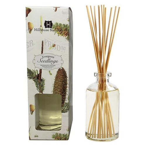 Hillhouse Naturals Reed Diffuser 6 Oz. - Evergreen Seedlings