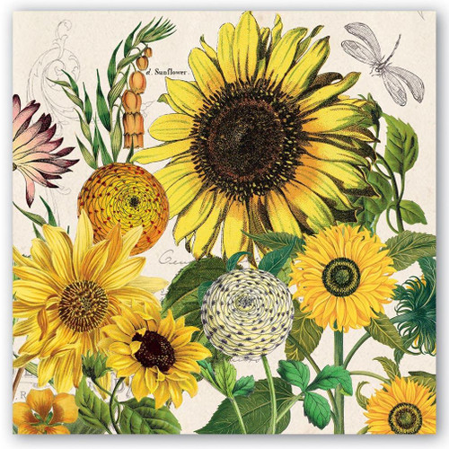Michel Design Works Paper Luncheon Napkins - Sunflower
