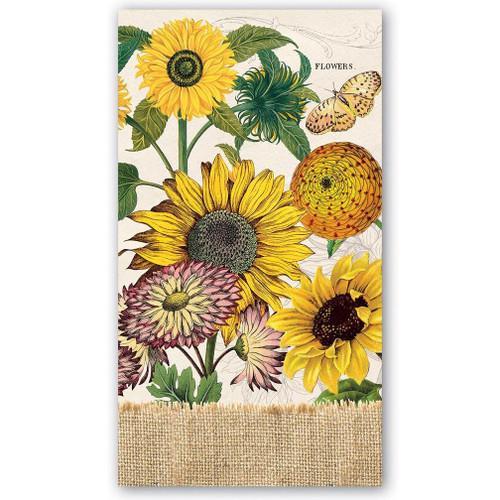 Michel Design Works Paper Hostess Napkins - Sunflower