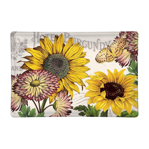 Michel Design Works Glass Soap Dish - Sunflower