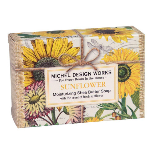 Michel Design Works Boxed Single Soap 4.5 Oz. - Sunflower