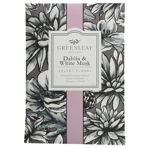 Greenleaf Large Scented Envelope Sachet - Dahlia & White Musk