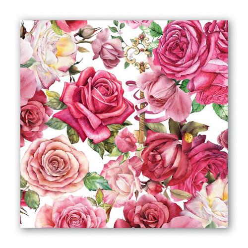 Michel Design Works Paper Cocktail Napkins - Royal Rose