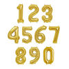 "16"" Number Balloons (Gold) 金色小數字"