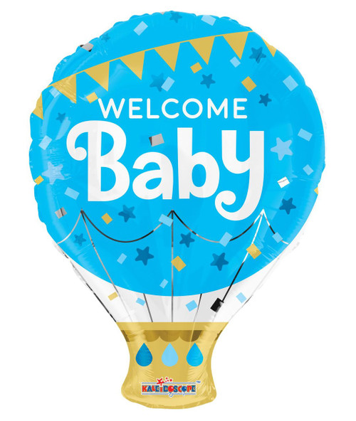 "18"" Welcome Baby Blue Hot Air Balloon 歡迎嬰兒藍色熱氣球"