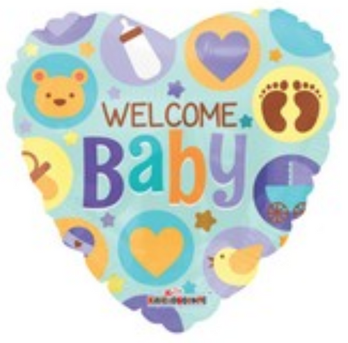 """18"""" Welcome Baby Heart 心形歡迎新生兒"""