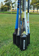 Free standing baseball bat holder