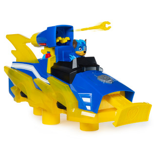 PAW PATROL MIGHTY PUPS CHARGED UP - Chase's Charged Up Deluxe Vehicle [Toy]