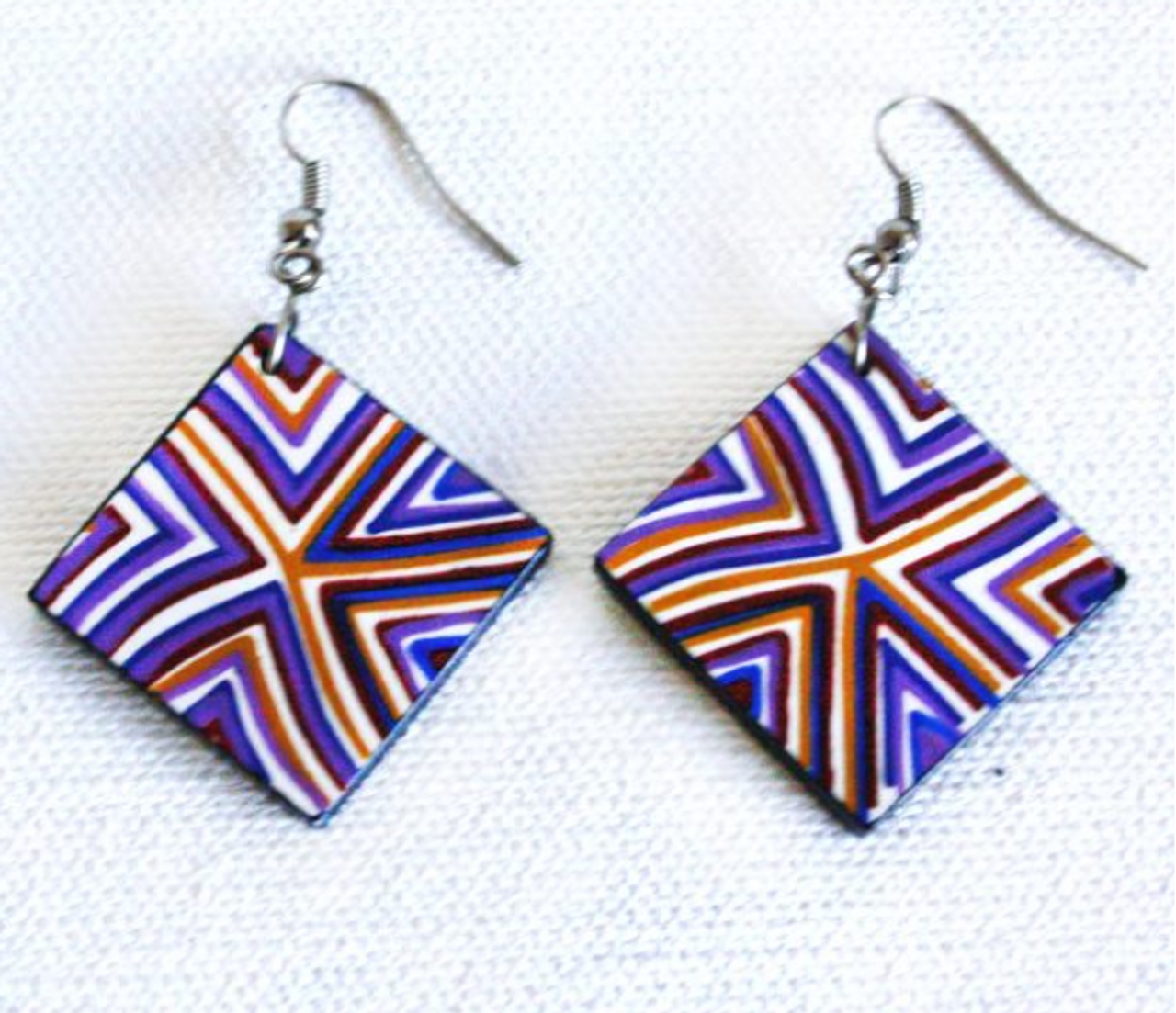Ceramic Earrings - Wanampi