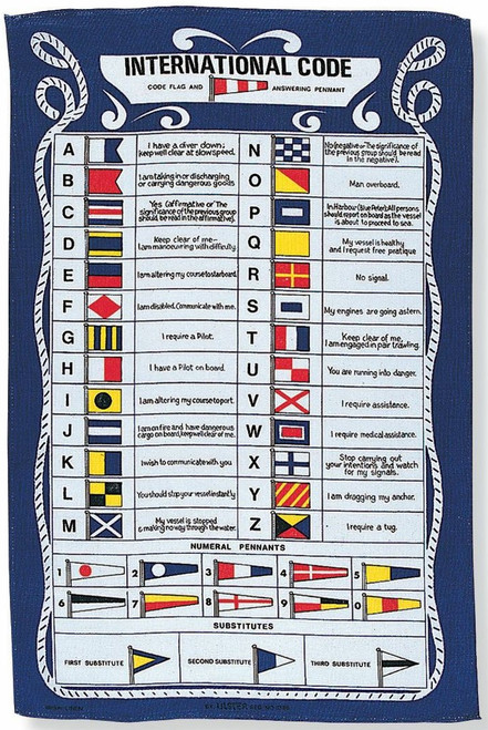 9271 GALLEY CLOTH CODE FLAG