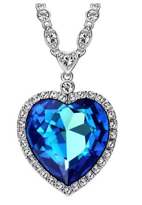 7116 HEART OF THE OCEAN NECKLACE