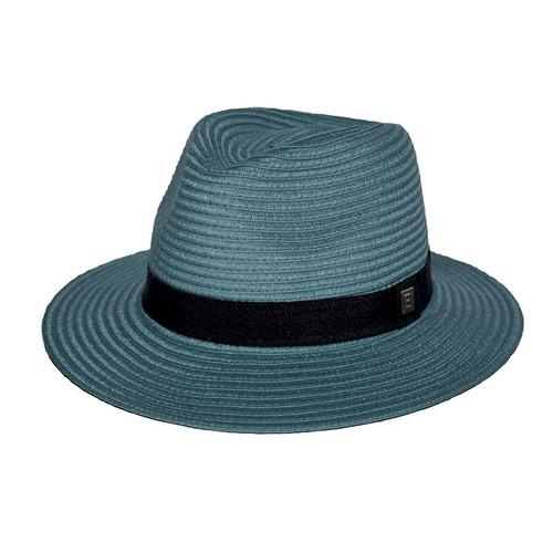 Panamate Hat: Petrol Blue