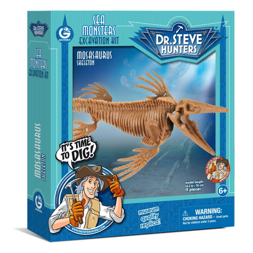 Sea Monsters Excavation Kit - Mosasaurus Skeleton