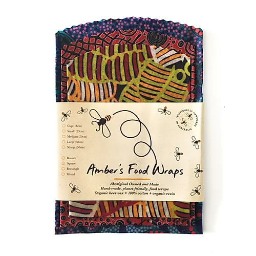 4744 Amber's Food Wraps (3 pack) Indigenous