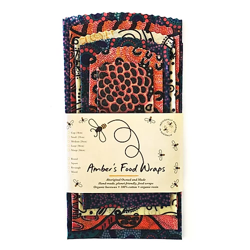 4745 Amber's Beeswax Food Wraps Indigenous