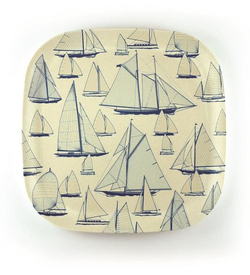 Bamboo Plate - 'Sail Away' 22cm