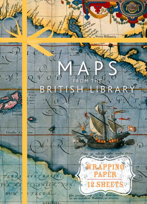 1874 Wrapping Paper Maps
