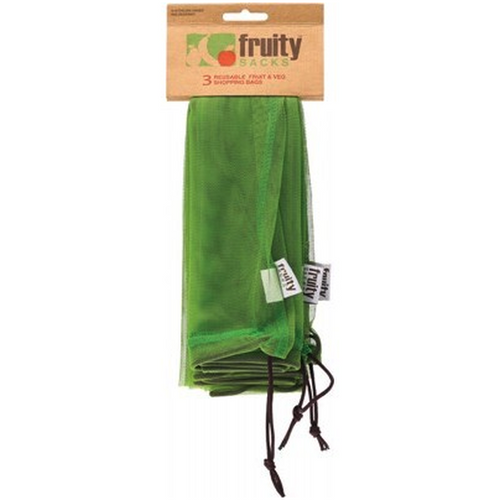 Fruity Sacks - Re-Usable Fruit & Veg Shopping Bags (3 Pack)