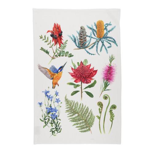 Australian Wildflowers Microfibre Tea Towel