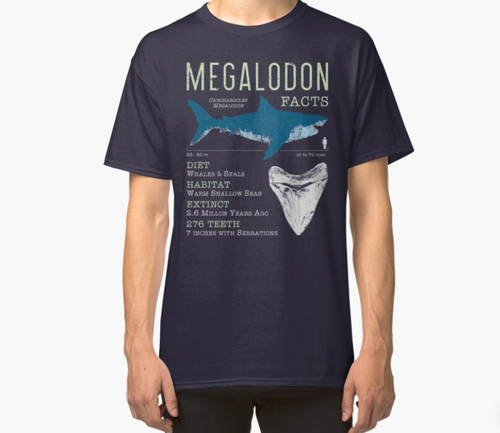 T-Shirt - Megalodon Facts