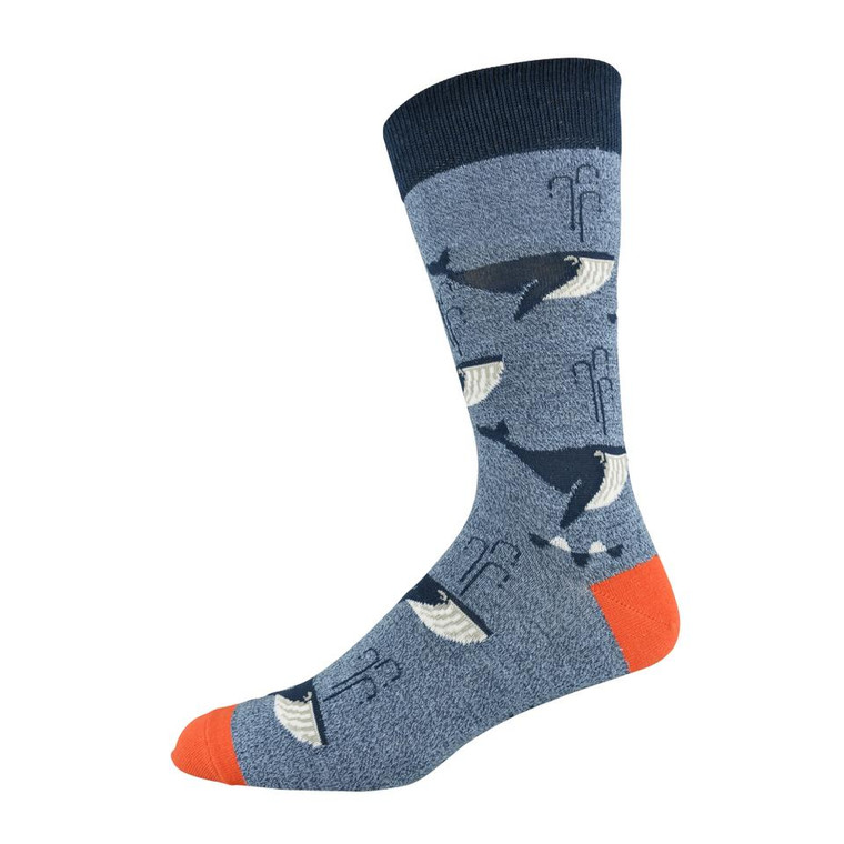 Socks - Whale Of A Time Design Bamboo (Men's)