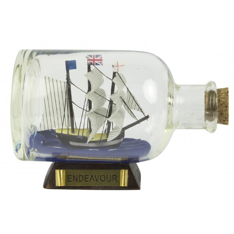 HMB Endeavour Ship-in-Bottle (9cm)