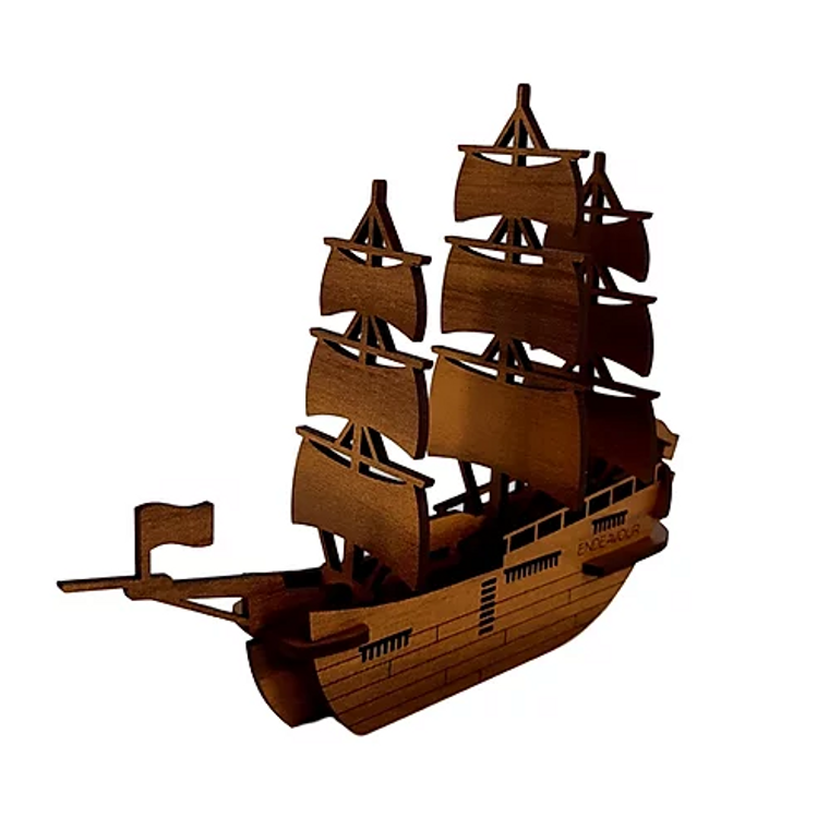 HMB Endeavour 3D Kit Wood Model