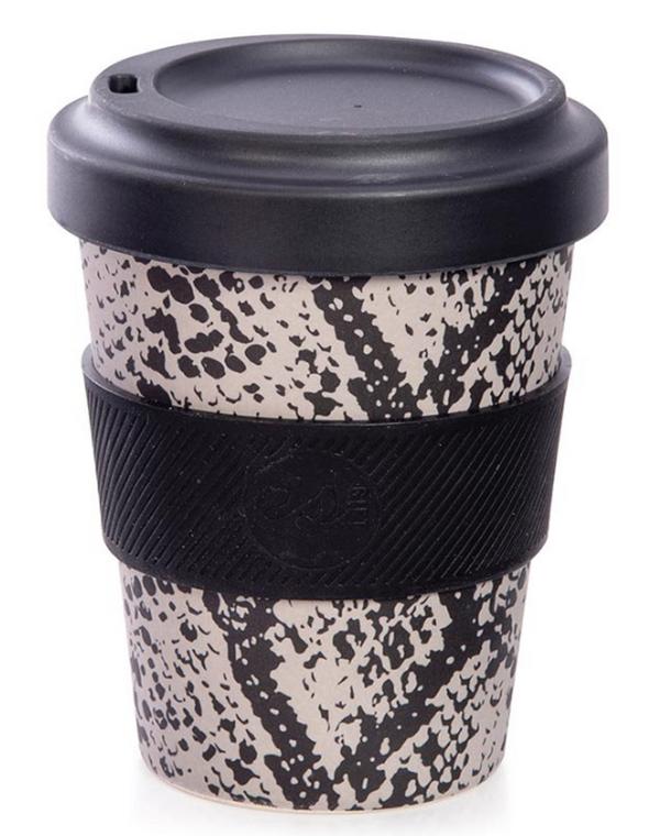 Bamboo Eco Cup - Snake Print (350ml)