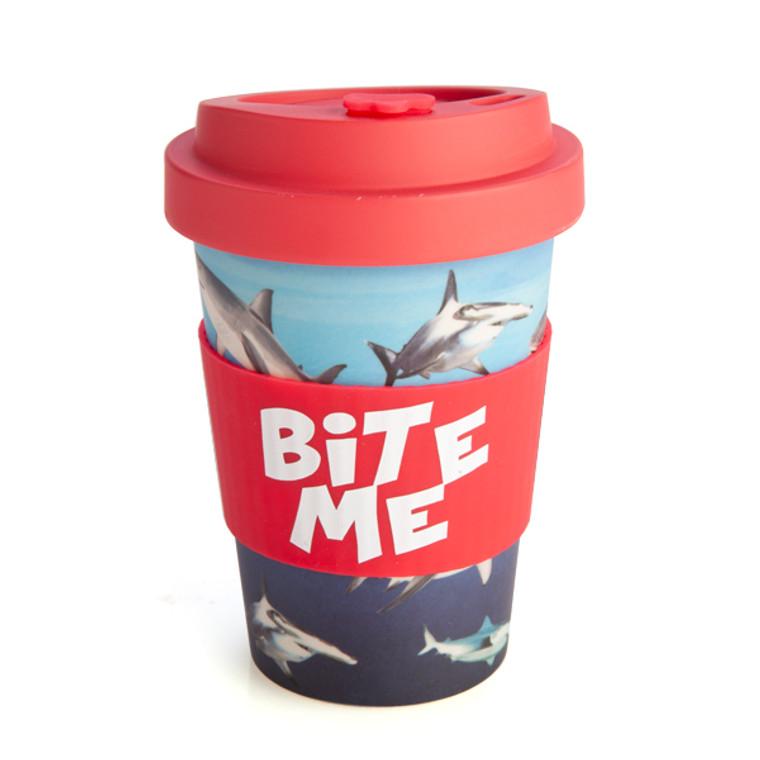 EcoGo Bamboo Travel Cup - Bite Me (Shark)