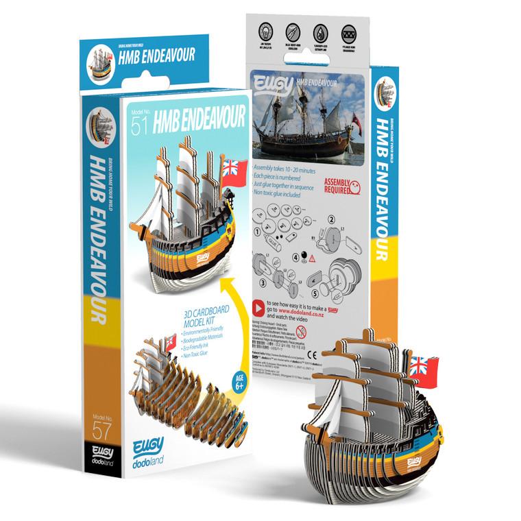 Eugy 3D model kit - HMB Endeavour (8010)