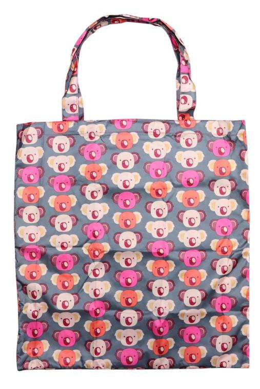 Fold-Up Reusable Shopper Bag - Koala