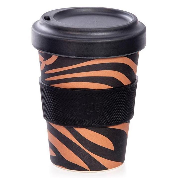Bamboo Eco Cup - Tiger Print (350ml)