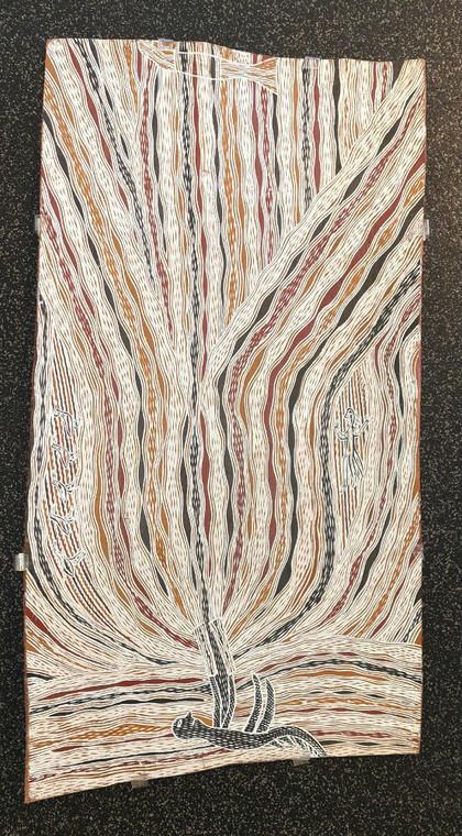 Bark Painting - Yathikpa by Djambawa Marawili AM